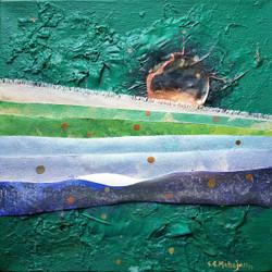 abstract, painting, art, warm, layers, emotions,Pearl On Horizon-3,ART_664_21068,Artist : Sunil Mahajan,Acrylic
