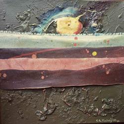 abstract, painting, art, warm, layers, emotions,Pearl On Horizon-2,ART_664_21066,Artist : Sunil Mahajan,Acrylic