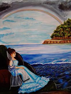 The rainbow,The double rainbow ,ART_3127_21150,Artist : Pingla Rani,Acrylic