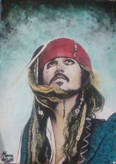 ,Captain Sparrow 20X24,ART_550_8670,Artist : Pankaj Sharma (Seller),Acrylic