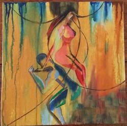 Love, romance, support, man, woman, unconditional, abstract, modern art.,Unconditional Love,ART_3134_21553,Artist : Vaishali Patil,Acrylic