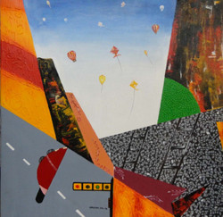Festival - 30in X 30in ,ART_KAPL22_3030,Kankana Pal,Museum Quality - 100% HandpaintedFestival Kite,Sankarant  Buy Paintings online in india
