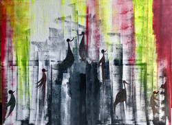 Concrete Jungle (ART_3261_21682) - Handpainted Art Painting - 49in X 36in