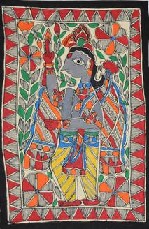 Jai Shri Ram (ART_2168_21475) - Handpainted Art Painting - 7in X 11in