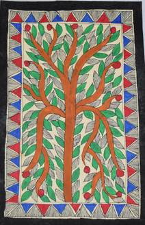 Beautiful Tree (ART_2168_21472) - Handpainted Art Painting - 7in X 11in