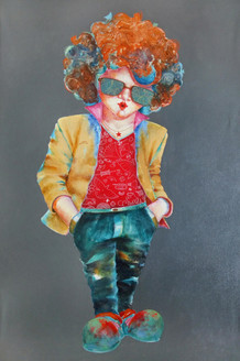 Passion  of the childhood xii (ART_805_21802) - Handpainted Art Painting - 24in X 36in