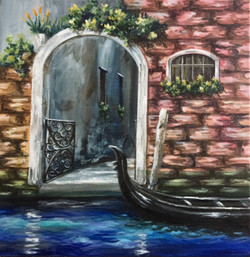 Agony of Longing (ART_1316_21844) - Handpainted Art Painting - 12in X 12in (Framed)
