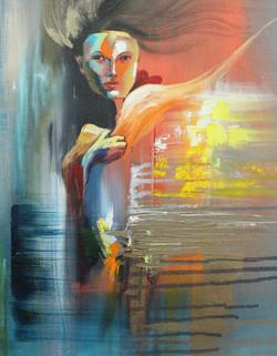 Beautify 1 (ART_1522_22156) - Handpainted Art Painting - 12in X 16in