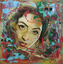 Famous portraiture  (ART_1522_22251) - Handpainted Art Painting - 36in X 36in