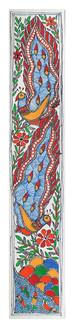 Beautiful Painting of Peacock. (ART_2168_22336) - Handpainted Art Painting - 3in X 22in
