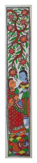 Radha Krishna Painting Art (ART_2168_22333) - Handpainted Art Painting - 3in X 22in