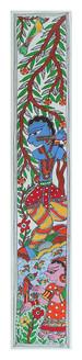 Lord Krishna with Radhaji (ART_2168_22332) - Handpainted Art Painting - 33in X 22in