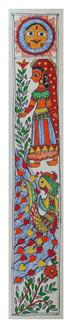 Surya Dev Aradhna Painting (ART_2168_22326) - Handpainted Art Painting - 3in X 22in