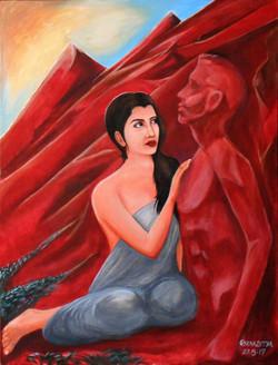 Love Complication- Pathhar ke sanam (ART_2362_18641) - Handpainted Art Painting - 28in X 36in