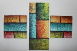 Artoholic Canvas Painting 8 INCH X8 INCH-2 PCS 7 INCHX 17 INCH - 1 PC(Total Set (ART_3319_22589) - Handpainted Art Painting - 7in X 17in
