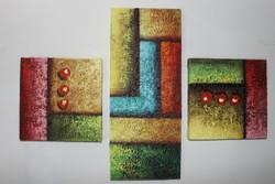 Artoholic Canvas Painting 8 INCH X8 INCH-2 PCS 7 INCHX 17 INCH - 1 PC(Total Set (ART_3319_22587) - Handpainted Art Painting - 7in X 17in