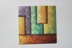 Artoholic Canvas Painting 12 INCH X12 INCH Set of 1  Special Effect Textured-N (ART_3319_22578) - Handpainted Art Painting - 12in X 12in