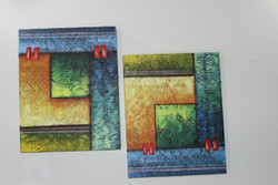 Artoholic Canvas Painting 12 INCH X15 INCH Set of 2  Special Effect Textured-N (ART_3319_22573) - Handpainted Art Painting - 12in X 15in