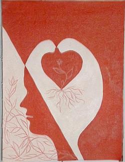 Love (ART_2809_22767) - Handpainted Art Painting - 9in X 12in