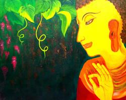 Buddha (ART_3548_23232) - Handpainted Art Painting - 30in X 24in