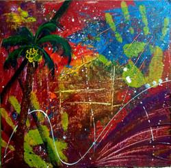 Dream tree (ART_3548_23183) - Handpainted Art Painting - 12in X 12in