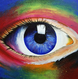 An eye (ART_3548_23083) - Handpainted Art Painting - 12in X 12in