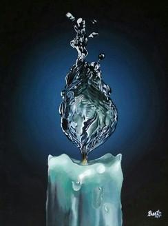NEVER ENDING HOPE (ART_2521_20710) - Handpainted Art Painting - 18in X 24in