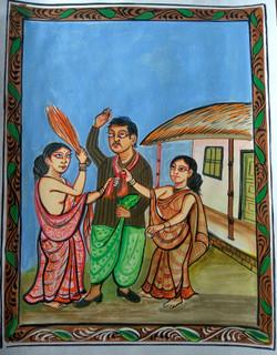 DO-BIWI (ART_3662_23541) - Handpainted Art Painting - 24in X 16in