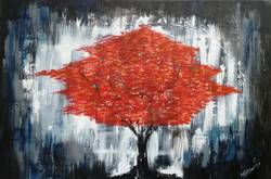 Abstract (ART_3690_23657) - Handpainted Art Painting - 36in X 24in