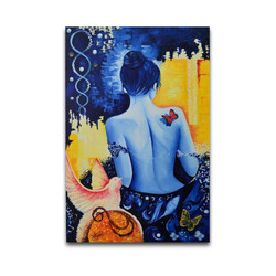 Dream Girl Painting (ART_3689_23649) - Handpainted Art Painting - 30in X 20in