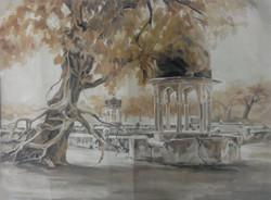 Sethani ka Johara II (ART_3809_24446) - Handpainted Art Painting - 38in X 28in