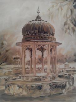 Sethani ka Johara I (ART_3809_24445) - Handpainted Art Painting - 28in X 38in