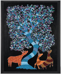 The Imperial Tree Painting (ART_3845_24436) - Handpainted Art Painting - 49in X 39in (Framed)