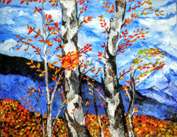 Himalayan Beauty (ART_3880_24579) - Handpainted Art Painting - 30in X 24in