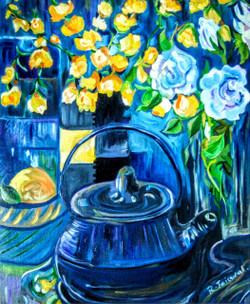 Morning Freshness (ART_3880_24575) - Handpainted Art Painting - 16in X 18in