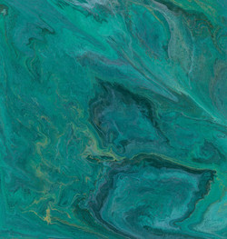 Turquoise Waves (ART_3857_24497) - Handpainted Art Painting - 12in X 12in