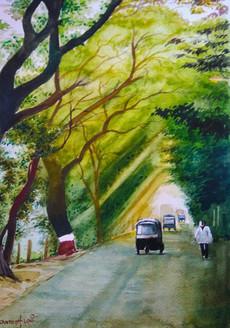 Morning freshness (ART_715_15706) - Handpainted Art Painting - 16in X 11in