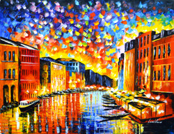 Venice - Grand Canal (FR_1523_24246) - Handpainted Art Painting - 40in X 30in
