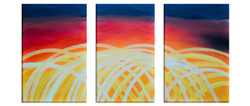 Yellow Abstract Curves (FR_1523_24108) - Handpainted Art Painting - 36in X 18in
