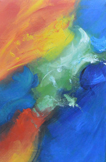 Colorful (FR_1523_24152) - Handpainted Art Painting - 16in X 24in
