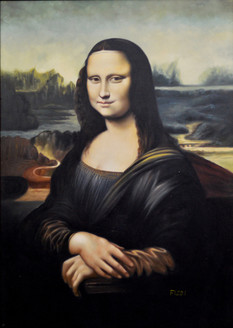 Monalisa (FR_1523_24147) - Handpainted Art Painting - 29in X 40in (Framed)