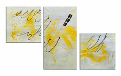 Silver Abstract (FR_1523_24114) - Handpainted Art Painting - 48in X 28in