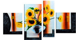 Sunflowers (FR_1523_24111) - Handpainted Art Painting - 69in X 32in