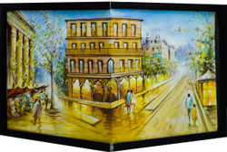 Feel Venice (FR_1523_24235) - Handpainted Art Painting - 25in X 11in (Framed)