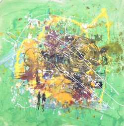 Abstract art 00ACH02 size 32x32 inches (ART_1522_6857) - Handpainted Art Painting - 32in X 32in