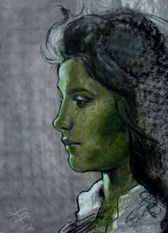 Keeper of Secret (ART_3780_24790) - Handpainted Art Painting - 9in X 13in