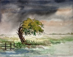 After the Storm (ART_3780_24830) - Handpainted Art Painting - 15in X 11in