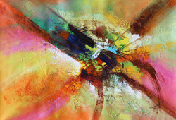 Abstract 013 (ART_1522_14352) - Handpainted Art Painting - 36in X 24in
