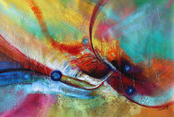 Abstract 012 (ART_1522_14351) - Handpainted Art Painting - 36in X 24in