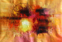 Abstract 09 (ART_1522_14345) - Handpainted Art Painting - 36in X 24in